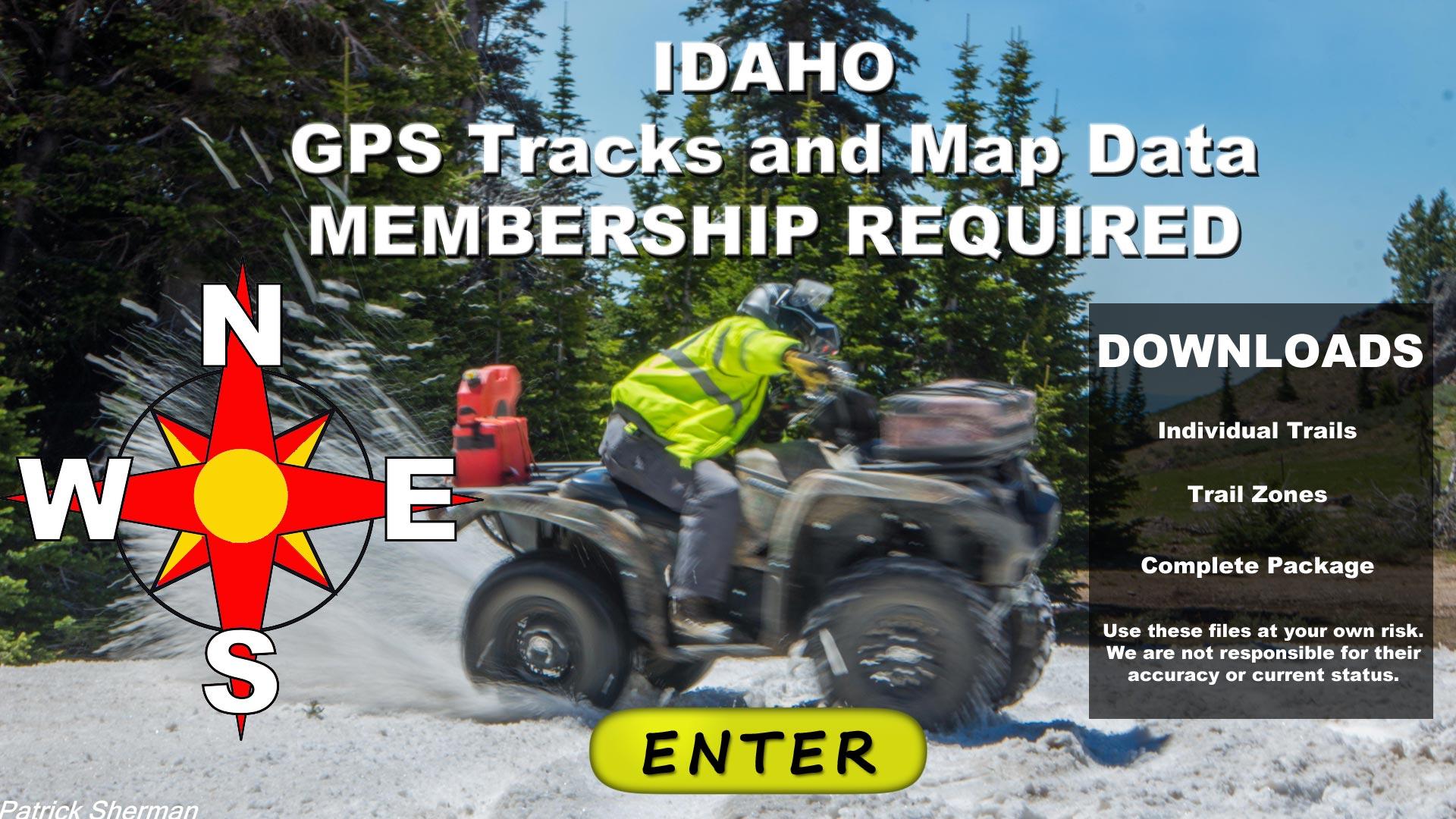 Idaho GPS Tracks